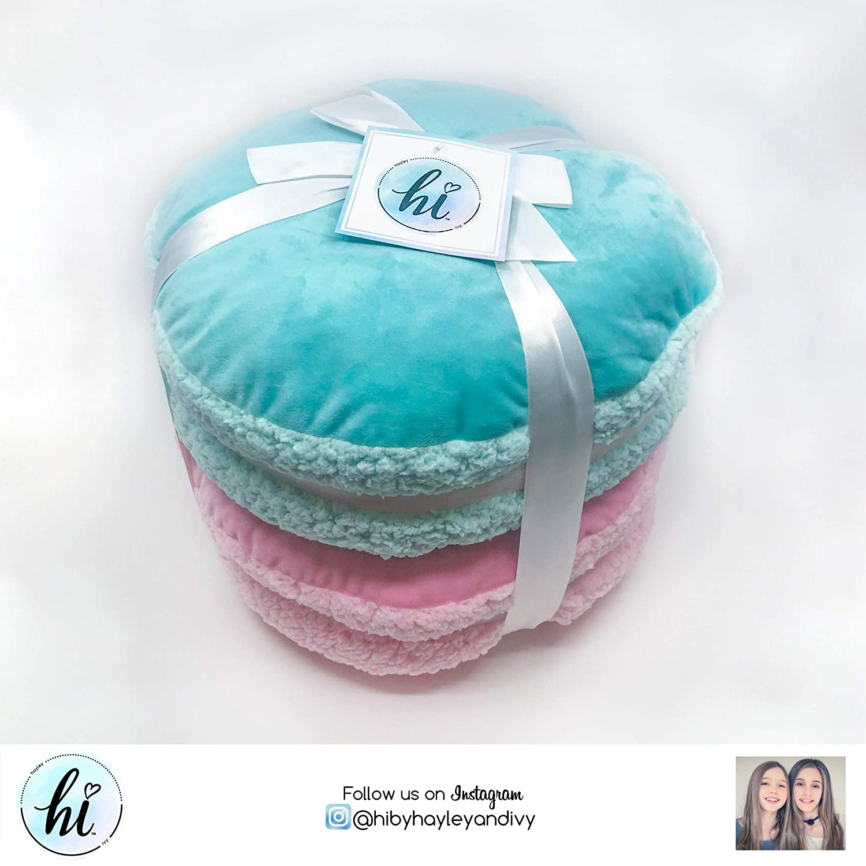 Jay Franco Hi 2 Pack Macaron Decorative Pillow Set Teal//Pink Jay Franco /& Sons JF23687CD