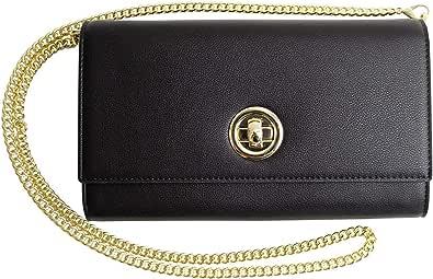 MALTA Vegan Leather Clutch Purse Wallet Shoulder Bag for Women Chain Strap Coin Card Phone High Capacity