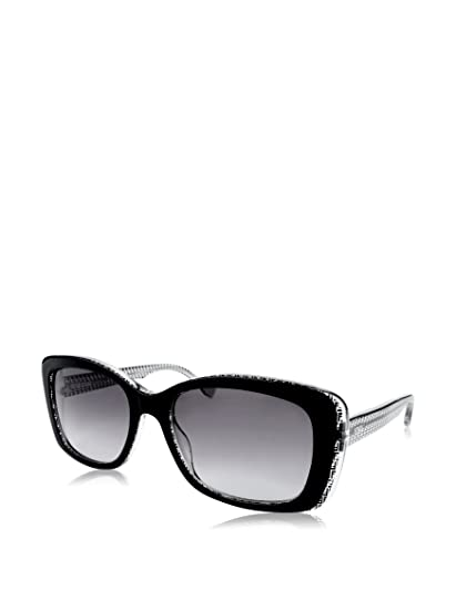 ed097ad883b6 Fendi 0002 S Sunglasses-06ZV Black Crystal (EU Black Gradient Lens)-53mm   Amazon.in  Clothing   Accessories