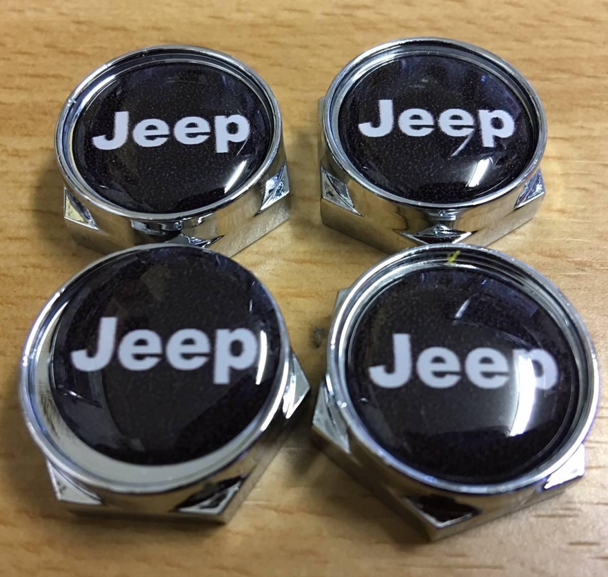 bleqi Chrome Metal Sports Style Car License Plate Frame Universal Bolt Screws For JEEP bleqi.co.ltd