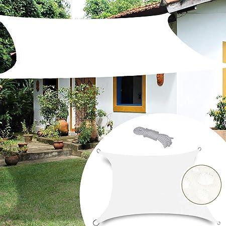 GDMING Impermeable Vela De Sombra para Patio Malla Sombra De Red Rectángulo con Anillo En D Anti-UV Anti-envejecimiento Mejorado Toldo Toldo Jardín 180GSM,5 Colores,13 Tamaños: Amazon.es: Hogar