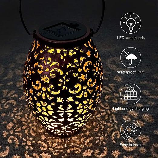 Luces Solares Jardín,VIFLYKOO LED Luz de jardín IP65 Luz de camino solar impermeable Luz de jardín al aire libre, terraza,patio y linterna de camino Decoración Festival Navidad: Amazon.es: Iluminación