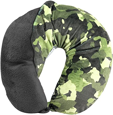 cloudz washable travel neck pillow cover camouflage