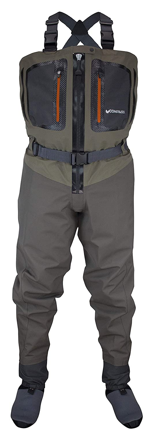 Compass 360 Point Guide Z II Zip Front Stft Breathable Chest Waders