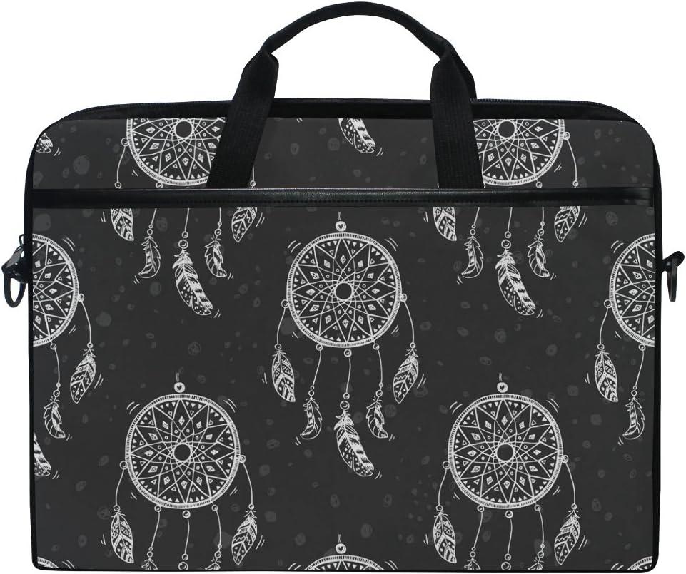 JSTEL Dreamcatcher Laptop Shoulder Messenger Bag Case Sleeve for 14 inch to 15.6 inch with Adjustable Notebook Shoulder Strap