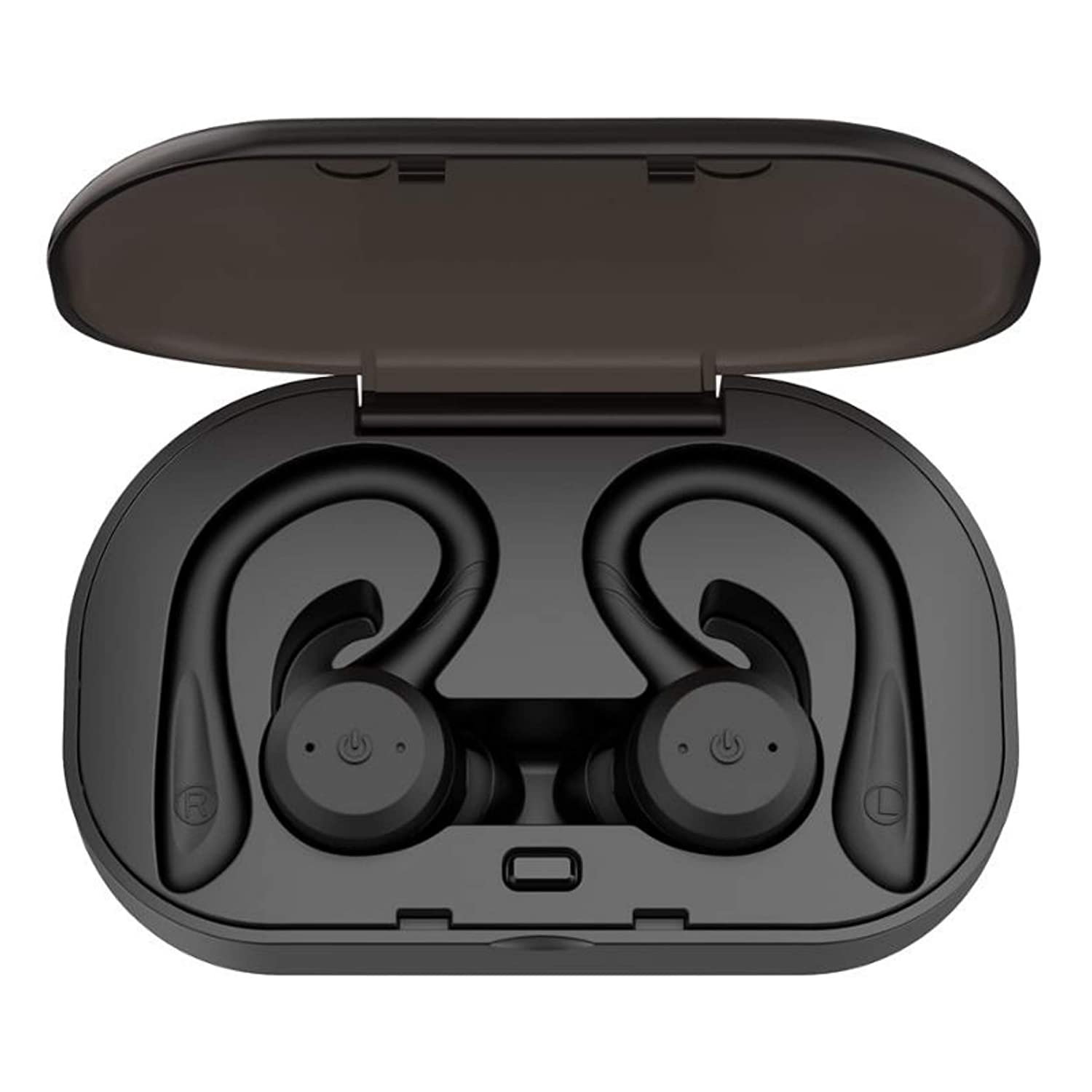 True Wireless Earbuds Bluetooth 5.0 Headphones, Sports in-Ear TWS Stereo Mini Headset w Mic Extra HIFI Bass IPX7 Waterproof,Instant Pairing 15H Battery Charging Case Noise Cancelling Earbuds Earphones