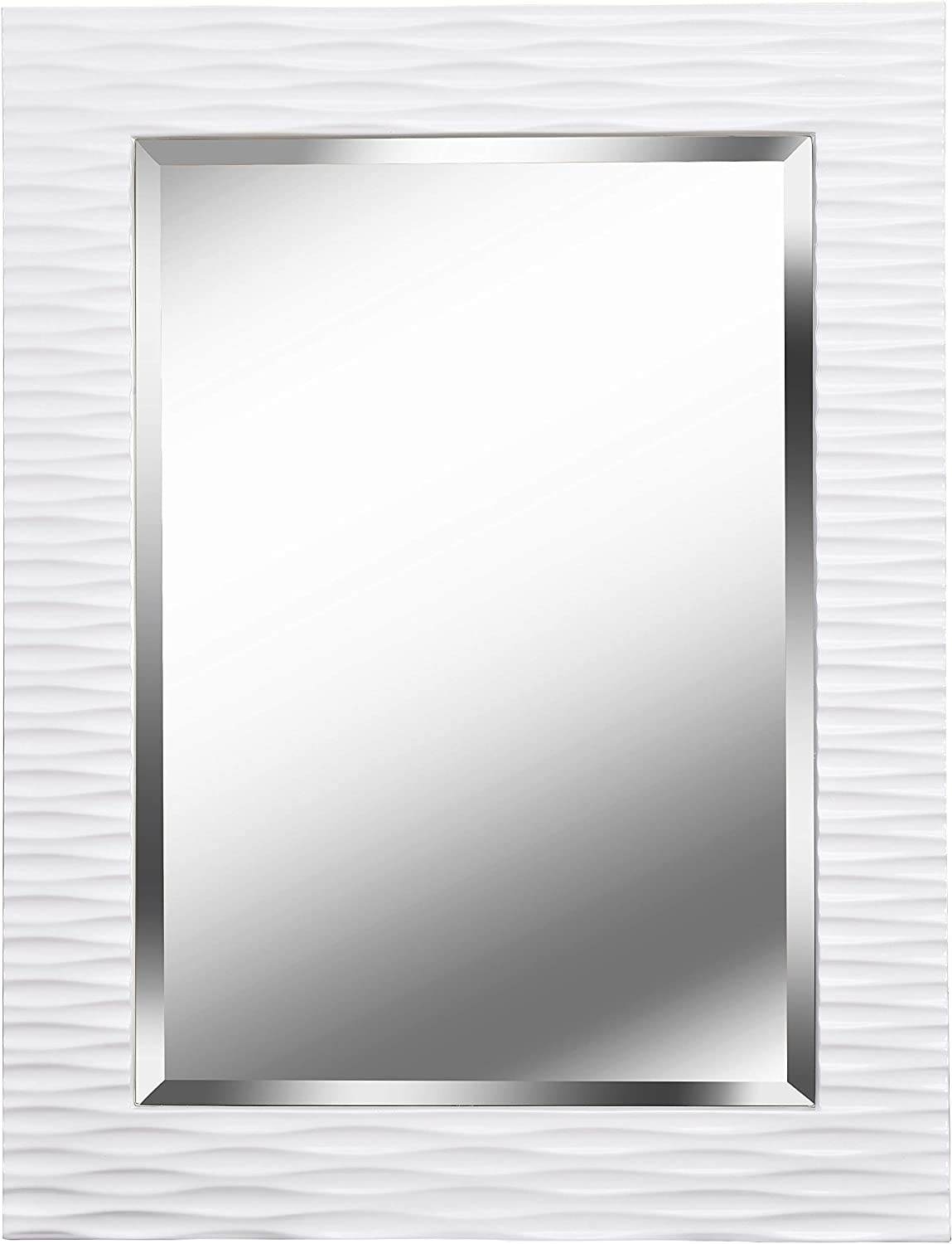 Kenroy Home Kenroy 60024 Transitional Wall Mirror From Kendrick Collection In White Finish 38 5 Inch Height 1 5 Inch Width Home Improvement Amazon Com