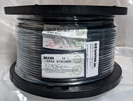 Belden Wire & Cable Co. - 1000FT - 1505A 0101000 - Black RG-59