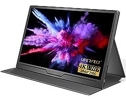 UPERFECT True 4K Portable Monitor, 15.6'' UHD IPS 3840x2160 USB C Monitor Unique Arch Metal Frame,100% sRGB 400 Nits Brightne