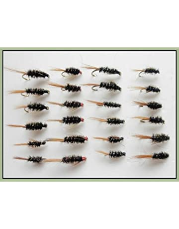 Booby Trout Flies Mixed 10//12 Yellow Foam Head 6 Pack Dynamite Black and Red