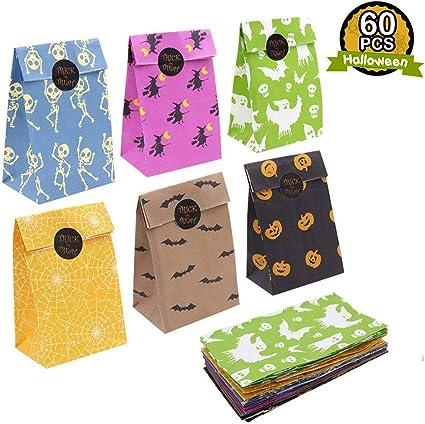 Amazon.com: OurWarm 60 bolsas de regalo de papel para ...
