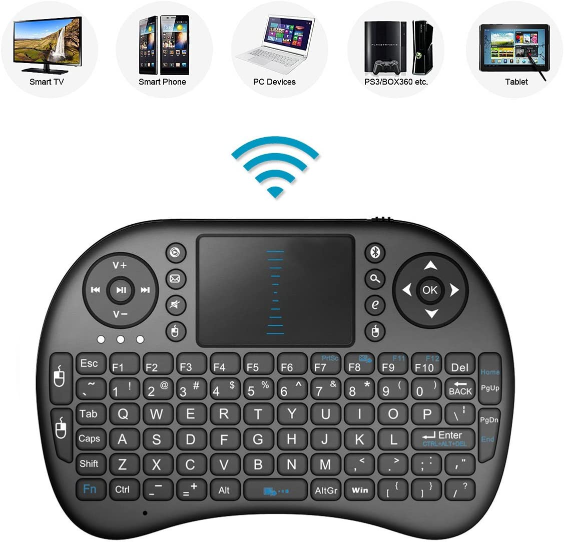 Remote Control with Rechargable Li-ion Battery for LG 50UK6500PLA 50 Smart TV 2.4GHz Mini Mobile Wireless Keyboard with Touchpad
