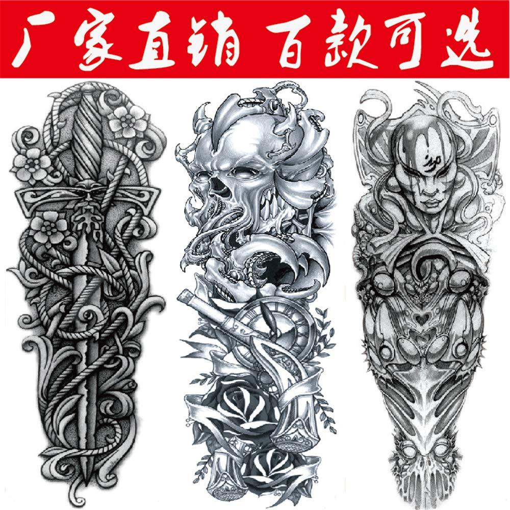 tzxdbh 2pcs Tatuaje Pegatinas Impermeable Brazo Pegatinas Imagen ...
