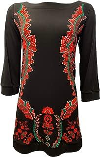 product image for Eva Varro 3/4 Peekaboo Sleeves Tunic -RED Luxembourg