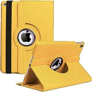 iPad Mini 3 Case 7.9''(2014)- 360 Degree Rotating Stand(2013) Apple Mini 2 Case Cover 7.9 inch with Auto Sleep/Wake Feature for(2012) iPad Mini 1 (Golden)