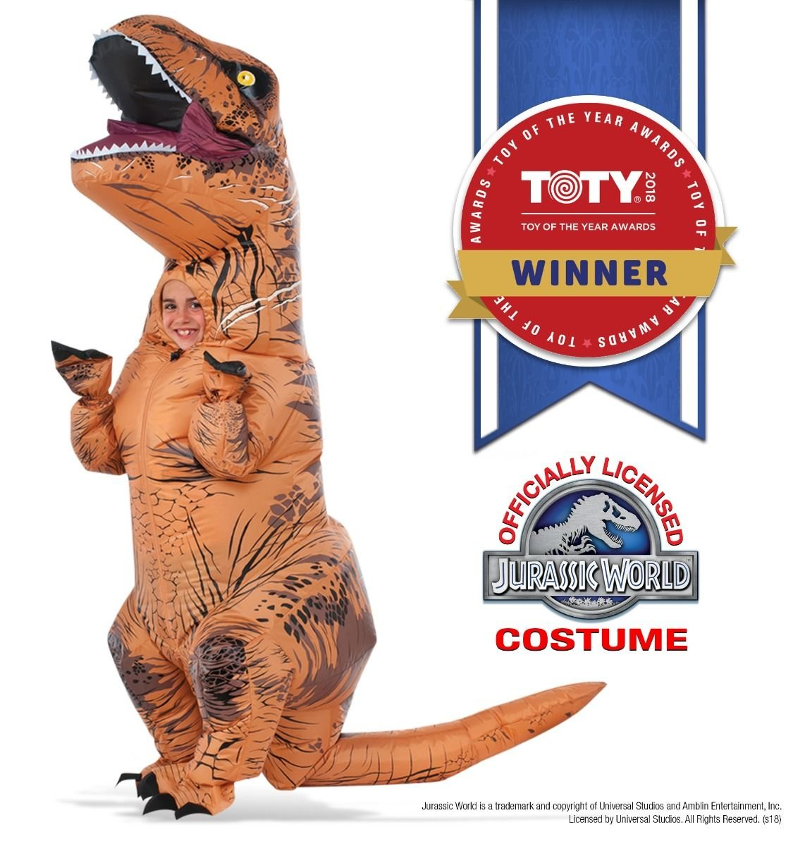 Rubies Costume Jurassic World T-Rex Inflatable Child Costume for 5 to 7 Years old Rubies Costume Co (Canada) I-610821STD