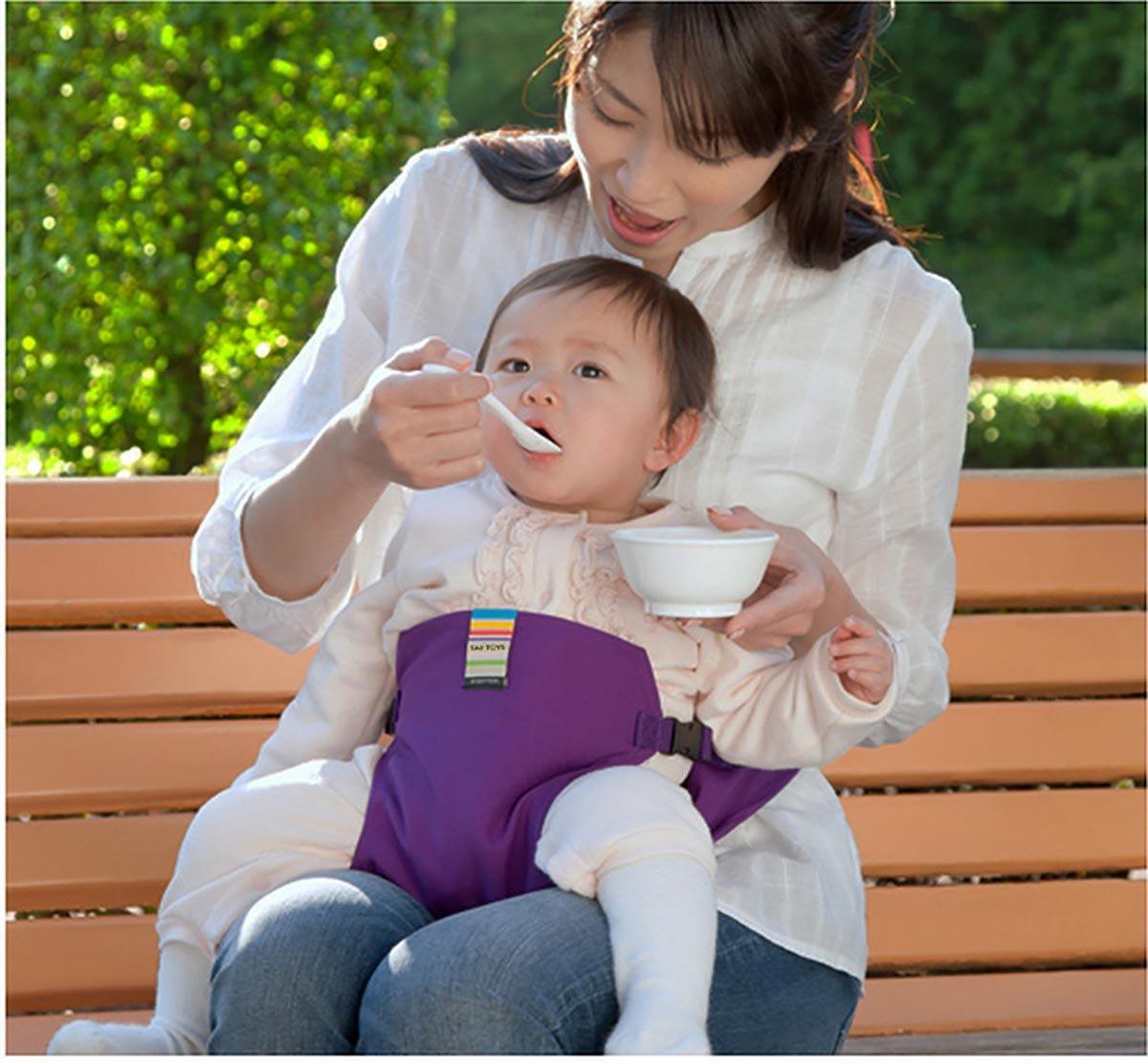 Sicherheitsgurt Sch/ätzchenspeicherung den Gurt Rosa Der waschbare tragbare Reise Hochstuhl Booster Babysitz mit Riemen Kleinkind 6 Farben