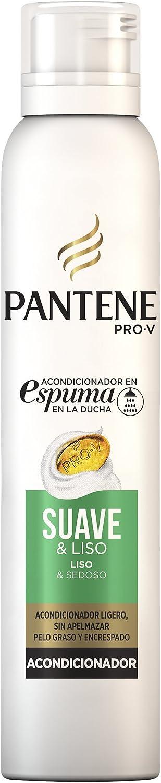 Pantene Pro-V Suave Y Liso Acondicionador En Espuma Para El Cabello Encrespado Y Fino 180ml