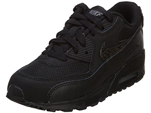 NIKE 724825 001 Kids PRE School AIR MAX 90 MESH (PS) BlackCool GreyBlack