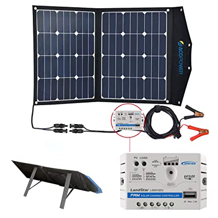 ACOPOWER 12V 70 Watt Foldable Solar Panel Kit