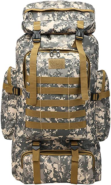 ZDD Outdoor Mountaineering Bag Men Women Backpack Large Capacity 60L Travel Bag Casual Sports Bag Travel Camouflage Bag