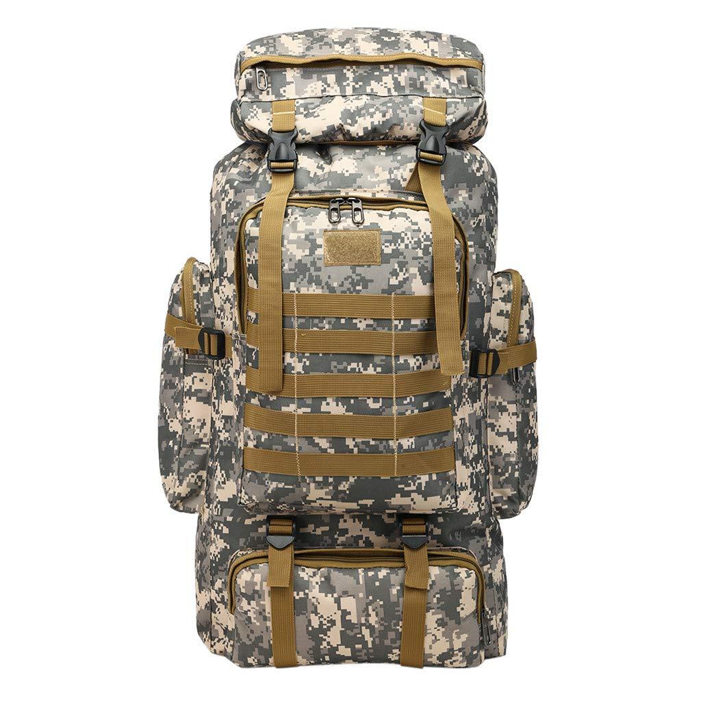Military 80L Large Backpacks,LuluZanm Sales! Hiking Travel Camo Army Backpacks Waterproof Durable Mountaineering Bag by Luluzanm Backpack
