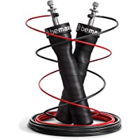 Springtouw Speed Rope met Trainingsgids + Reservekabel | 2 verstelbare staalkabels, kogellagers, Antislip Handvatten | Speedrope: Double Unders, Crossfit Profs Sport Boksen Training RPM Fitness Cardio