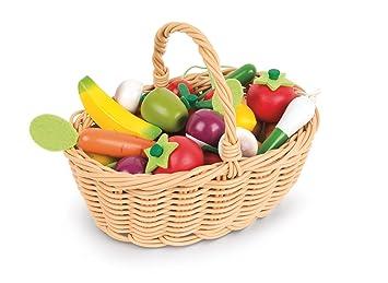 Frutas es Juguete 24 Cesta Janod Y De Verdurasj05620Amazon 8mN0nw