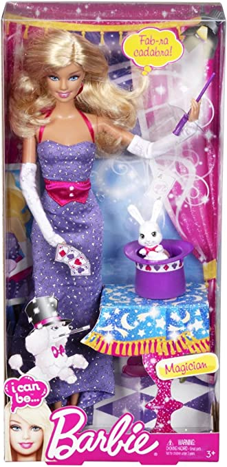 BARBIE I CAN BE MAGICIAN W// RABBIT IN HAT *NEW RELEASE*