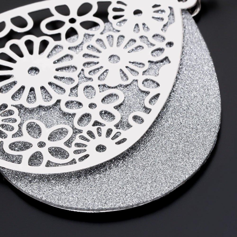 prints 4 drops silver prints filigree 24 x 15 mm