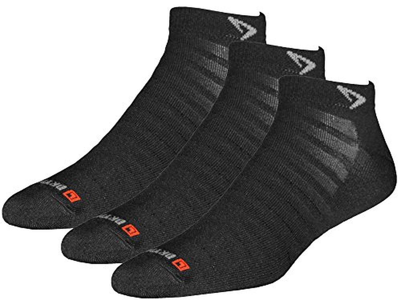 Drymax Socks Run Hyper Thin Mini Crew - Black W5-7, M3.5-5.5 - 3 Pack by Drymax