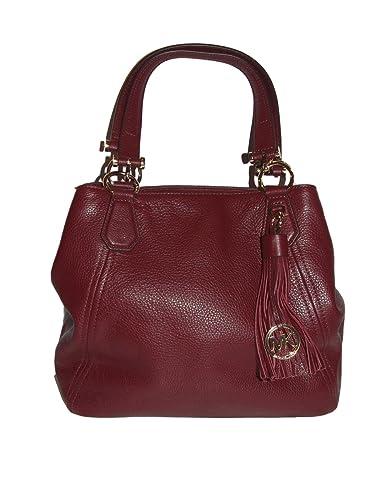9e1017cfa6 Micheal Kors - Frances Large Leather Grab Bag - Merlot  Handbags  Amazon.com