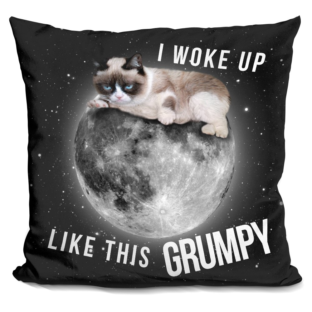 LiLiPi I Woke Up Like This Grumpy Decorative Accent Throw Pillow