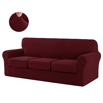 Phenomenal Chun Yi 4 Piece Jacquard High Stretch Sofa Cover Ikea Ektorp 3 Seater Separate Cushion Universal Sofa Slipcover Replacement Coat Furniture Protector Theyellowbook Wood Chair Design Ideas Theyellowbookinfo