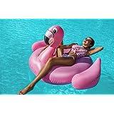 Flamingo Luftmatratze XXL Badeinsel 220cm Schwimminsel PVC Liege #3499