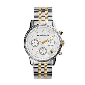 Michael Kors Reloj Cronógrafo para Mujer de Cuarzo con Correa en Acero Inoxidable MK5057: Michael Kors: Amazon.es: Relojes