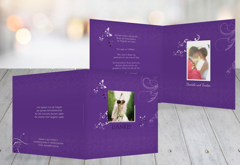 Kartenparadies Danksagung für Hochzeitsgeschenke Hochzeit Danke Butterfly, Hochwertige Danksagungskarte Hochzeitsglückwünsche Inklusive Umschläge   20 Karten - (Format  145x145 mm) Farbe  MattBlau B01N36GN47 | Hochwertig  | Günstige P