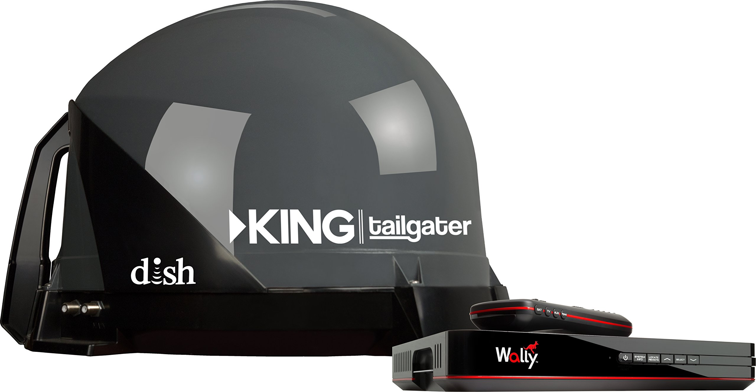 KING VQ4550 Tailgater Bundle - Portable Satellite TV Antenna and DISH Wally HD Receiver by KING