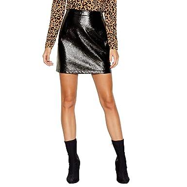 558112ae0 Red Herring Womens Black Vinyl Mini Skirt: Red Herring: Amazon.co.uk:  Clothing