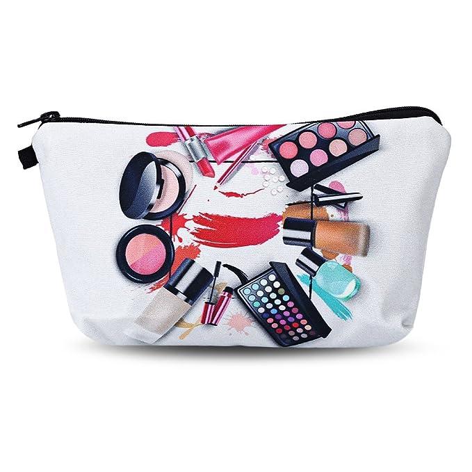 XXIAZHI,Bolso cosmético del cosmético del embrague de la impresión 3D(color:GRIS