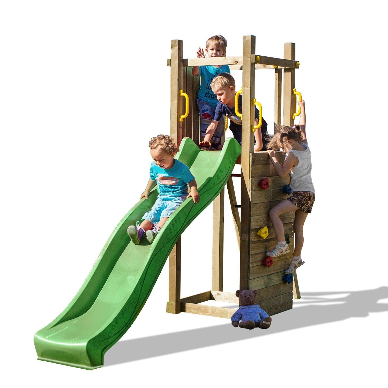Fungoo Spielturm Funny 3 mit Kletterwand und Rutsche 220cm, 02815