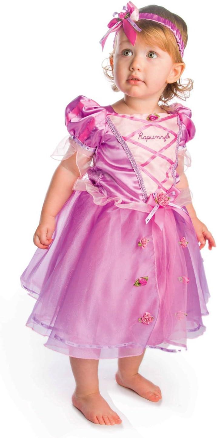 Disney Princesas Disfraz Rapunzel lujo, talla 18-24 meses, color ...