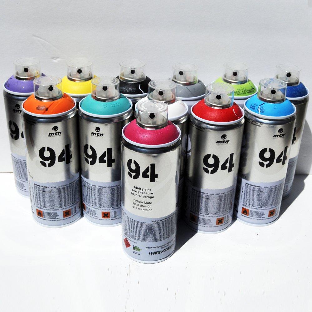 Montana MTN 94 Peinture à Pulvériser 400 Ml Lot De 12 Couleurs Populaires  Aérosol Pour Graffitis Et Art Mural Lot Principal 1: Amazon.fr: Bricolage
