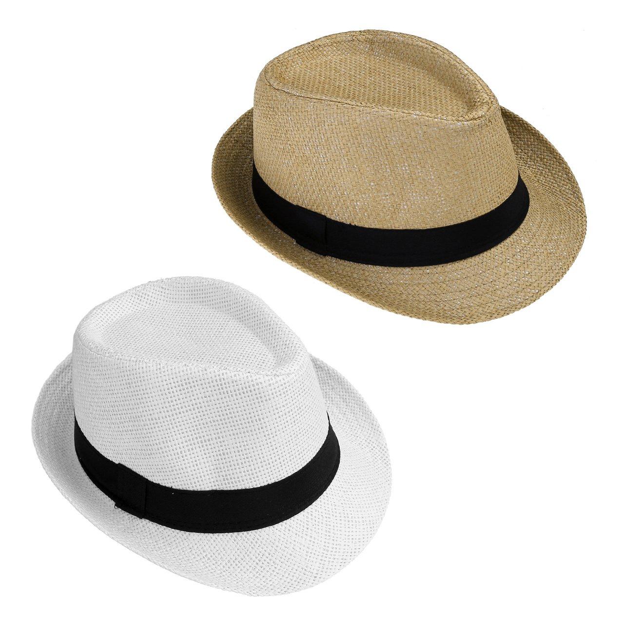 Faleto Herren Damen Panamahut Sonnenhut Sommerhut Beach Hut Strohhut Jazz Hut