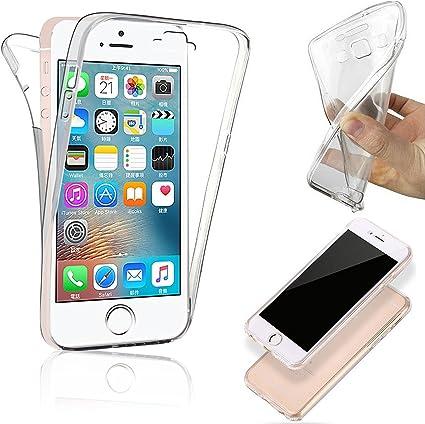 COPHONE Custodia per iPhone 5 / SE / 5S 360°Full Body Cover ...