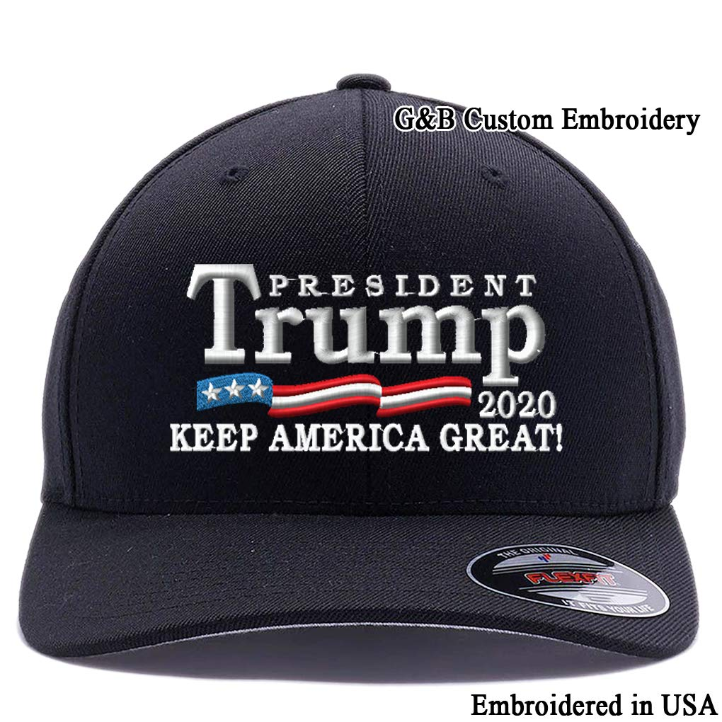 59167e43 Trump 2020 Keep America Great hat. Trump Punisher Flexfit Hat. Embroidered.  6277 Wooly Combed Twill Flexfit