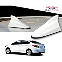 Auto Pearl White Shark Fin Signal Receiver Antenna for Hyundai Verna Fluidic