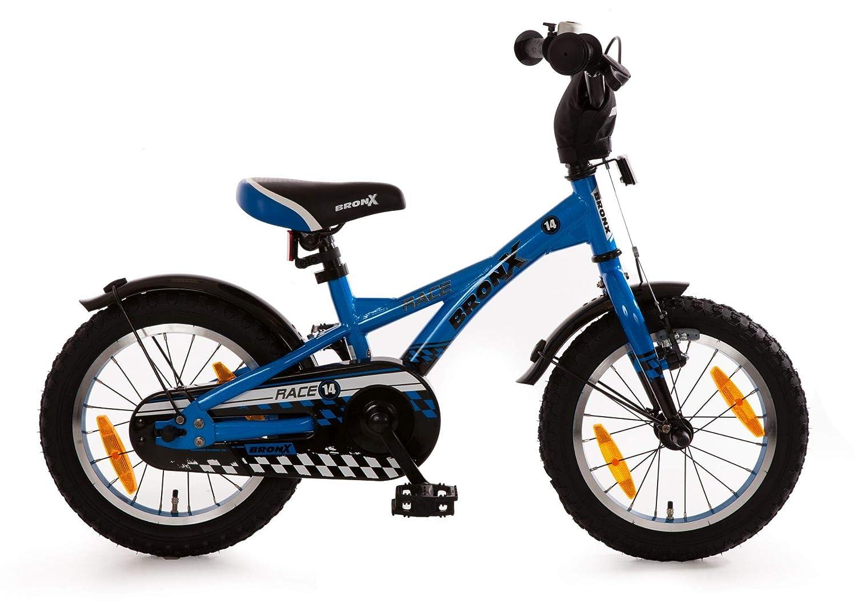 Bachtenkirch Kinderfahrrad 14 Zoll Bronx Race blau Stützräder und Seitenständer 581-BX-13