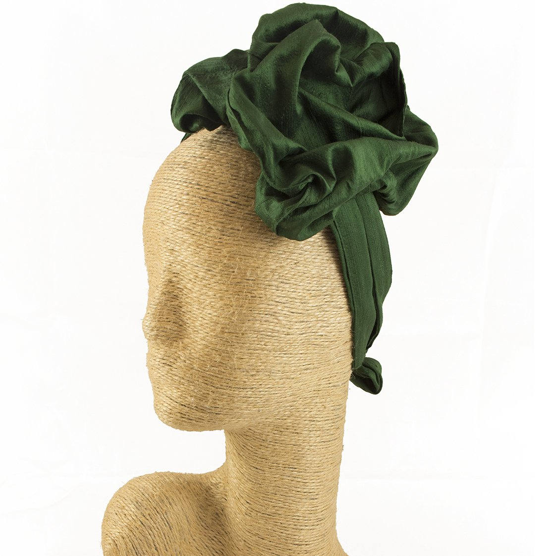 Fascinator, Silk Headbands, Millinery, Worldwide Free Shipment, Delivery in 2 Days, Customized Tailoring, Designer Fashion, Head wrap, Bohemian Accessories, Green, Boho Chic, Gift Box