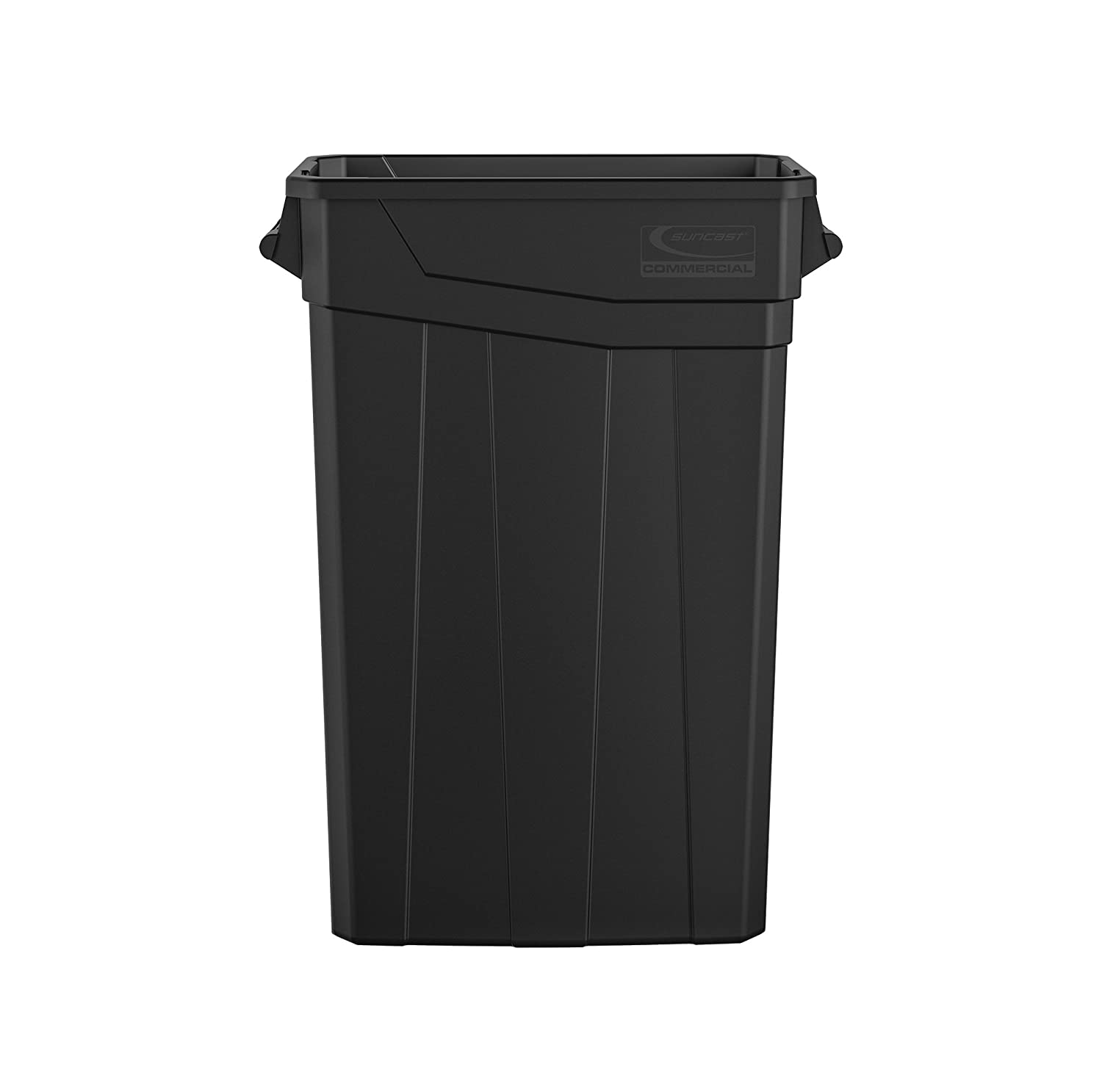 Black 4-Pack Basics Can and Bottle Recycling Lid for 23 Gallon Commercial Slim Trash Can